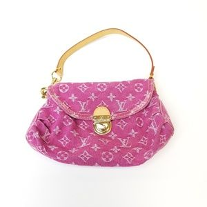 Louis Vuitton Mini Monogram Denim Purse Pink